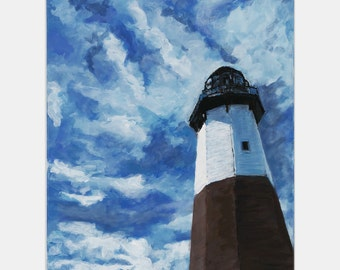 The Montauk Lighthouse  (A Landscape Set in Montauk NY 24 x 18 inches)