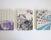Washington DC Art / DC Artwork / Set of Prints / Mounted Artwork / Washington
