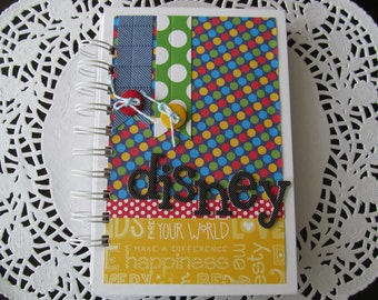 Disney Autograph/Brag Book, MIni Album, Disney Party Favor, Scrapbook,Pocket Album