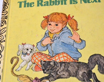Vintage Children's Book The Rabbit is Next  Little Golden Book First Edition