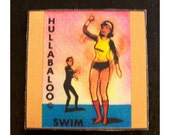 retro pin up girl coasters vintage go go dancer rockabilly 1960's mod kitsch