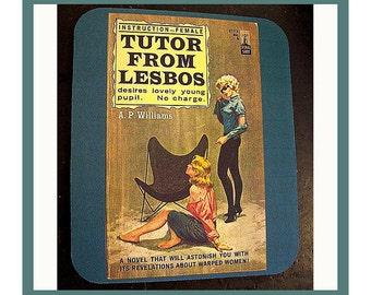 Lesbian Pulp Switch Plate Retro Vintage Paperback Art Sleaze
