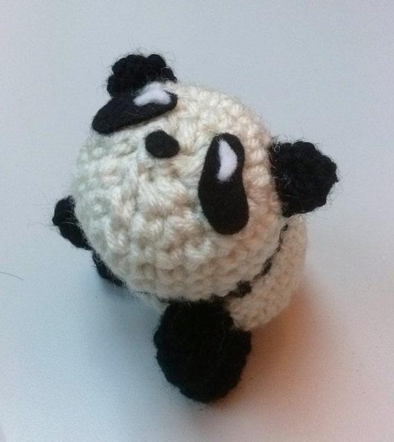 Easy Amigurumi Panda Patterns : Items similar to Amigurumi Panda Baby Bear Animal Doll ...