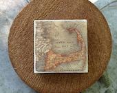 """Ocean, Cape Cod, Vintage - Stone Tile Magnet 2""""x2"""" - Cape Cod Magnet, Ocean Magnet, Stone Tile"""