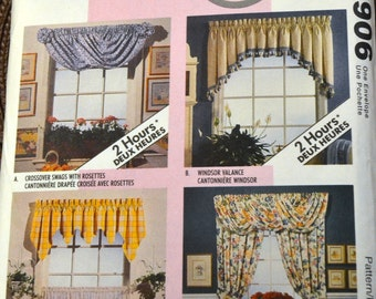Vintage Sewing Pattern McCall's 6906  Curtains Home Decor in a Sec Uncut Complete
