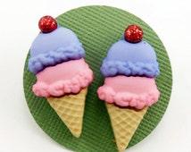 Double Scoop Ice Cream Cone Earrings