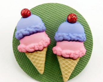 Double Scoop Ice Cream Cone Earrings