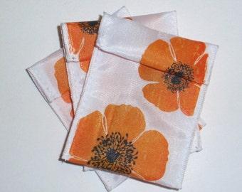 Jewelry Bead Pouches - 18 Orange Poppy - Ribbon