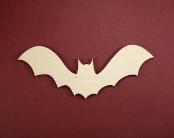 Bat Shape 2 Unfinished Wood Laser Cut Shapes Crafts Variety of Sizes
