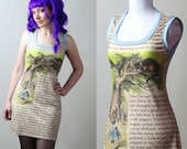 Alice's Adventures in Wonderland cheshire cat tank dress - custom - smarmyclothes