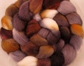 Merino Hand Painted  Wool Roving - Agate - chimera