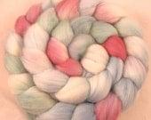 Merino Hand Painted  Wool Roving - Abalone