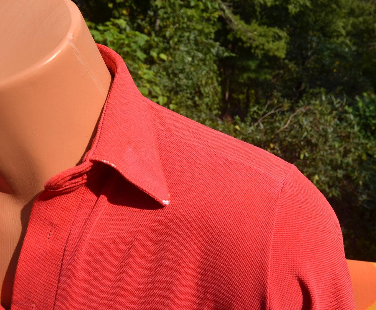 Vintage 70s golf shirt polo penguin grand slam munsingwear red for Golf shirt with penguin logo