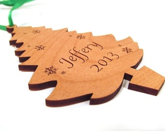 Christmas Tree Ornament - Personalized Tree Shaped Ornament