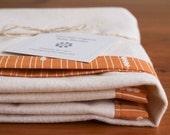 Organic Baby Blanket, ORANGE ABACUS, Essential Organic Receiving Blanket, Swaddling Blanket by Organic Quilt Company