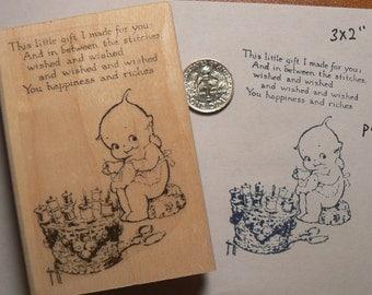 P29 Kewpie Sewing rubber stamp WM