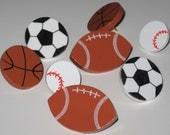 Football Baseball Soccer Basket Ball Push Pins for Bulletin Board