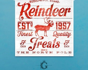 Christmas Holiday typography signage giclee signed artists print by Stephen Fowler geministudio
