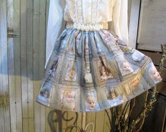 Decrepit Dolls handmade skirt Creepy babydolls skirt Spooky Baby Doll Skirt creepy Old dolls skirt vintage baby dolls Vintage Doll skirt S/M