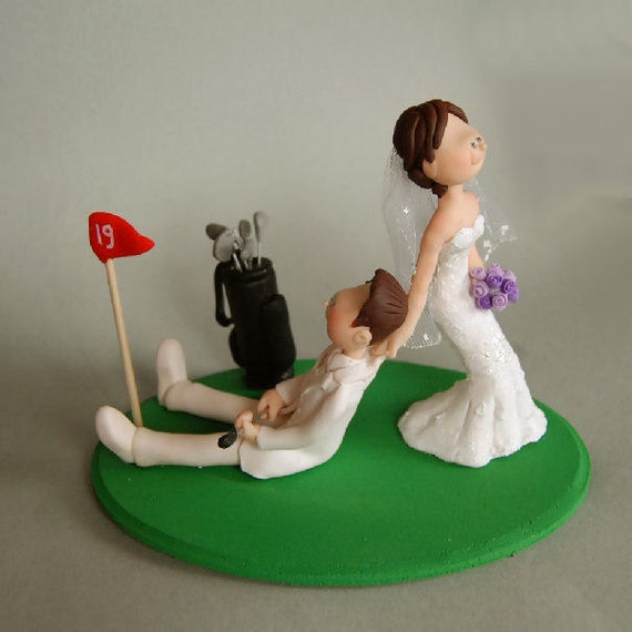 custom wedding cake toppers etsy custom made wedding cake topper golf by maraluiza on etsy 13253