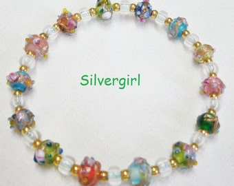Luster Green OR Multi Colored Azure Wedding Cake Boutique Stretch Bracelets