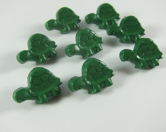 Green Turtle  Novelty Buttons