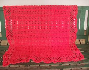 Dark Melon, Lapghan,Handicapped,Gift,Crocheted,Women,Seniors,Cover