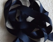Navy Blue Double Satin Ribbon. 25mm x 2 metres