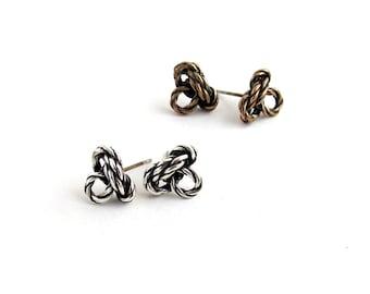 Climber's knot stud earrings