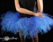 Ready to ship Trashy royal blue tutu skirt dance bridal roller derby costume wonder woman race run cosplay - Medium- Sisters of the Moon