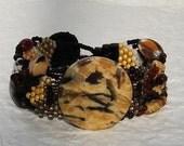 Free Form Peyote Stitch Beaded Bracelet  -  Your Spirit is Calling - EBW Team