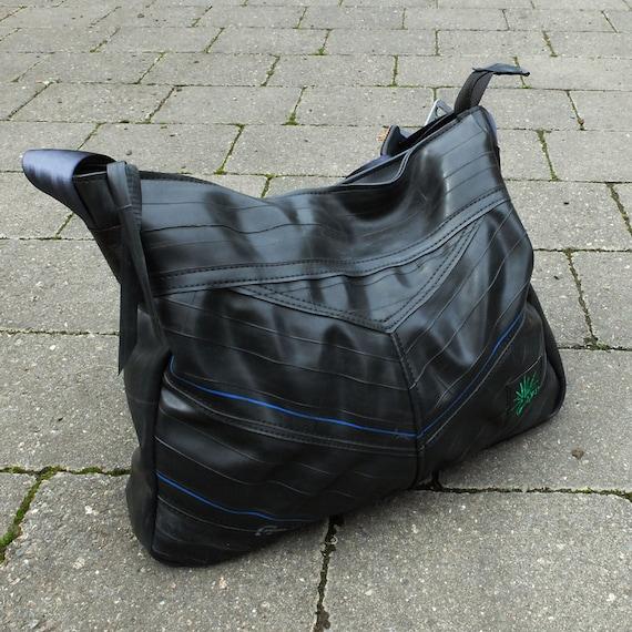 Eco friendly purse handbag made from used bike inner tubes