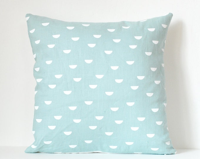 scales pillow cover - white / blue