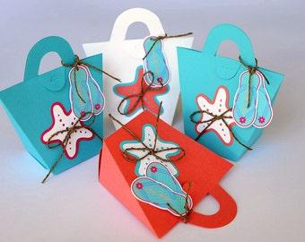 Set of 10 Mini Starfish Beach Bag - Wedding/Party Favor