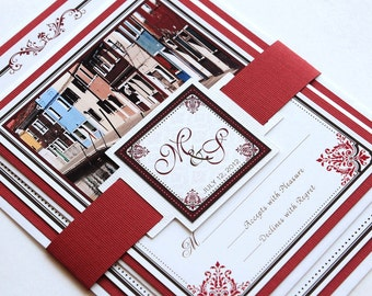Destination Wedding Invitation and RSVP Wedding Suite - Burano, Italy