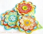 Fresh Picked Flowers (Dana) -- Handmade Fabric and Felt Adornments