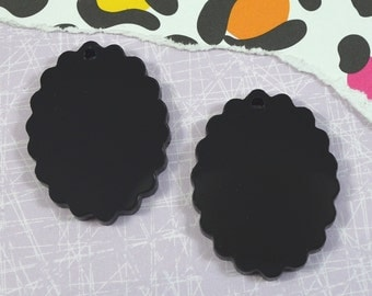 BLACK OVAL CAMEOS - 30x40 mm Frame Settings - Laser Cut Acrylic