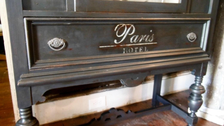 antique paris hotel china cabinet closet french paris chic. Black Bedroom Furniture Sets. Home Design Ideas