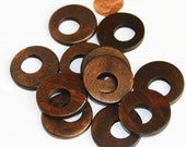 Close Out 12 pcs of Wood Go Go beads 30mm  Black/Brown