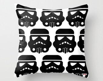Star wars pillow covers - Boyfriend gift - Black and white Decorative throw pillow cover - Modern pillow - Kids Bedding - nursery decor