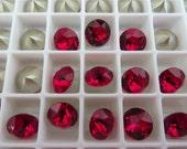 6 Siam Foiled Swarovski Crystal Chaton Stone 1088 39ss 8mm