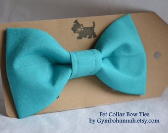 Teal Blue Bow Tie for dogs or cats Pet collar bowties weddings photography pet fashion