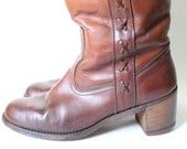 Women's Size 8 Vintage Boots. Dexter Leather Boots