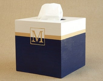 classic single monogram tissue box