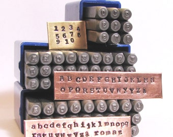 Typewriter News Print 2mm, Typewriter stamps, steel cambia set, Type style font, old type font, both cases, metal stamping, number included