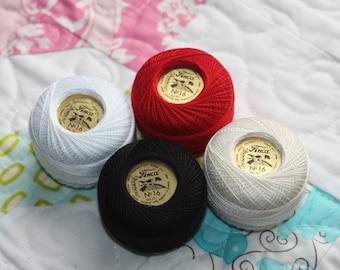 SALE Size 16 Set - 10 gram balls Finca Prescencia Thread set of 4