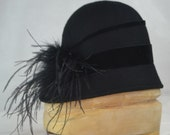 Winter Cloche Hat- Handmade Hat