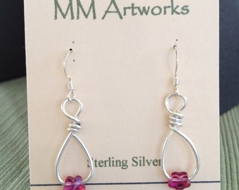 Swarovski bead earrings 01-867