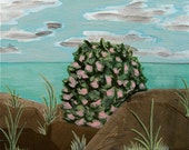 Portrait of a Native Bush at the Seaside - Original Acrylic Painting
