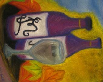 Fall Wine Drawing